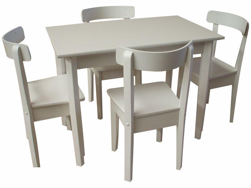 Mesa cuadrada 4 patas de 0.70 con sillas