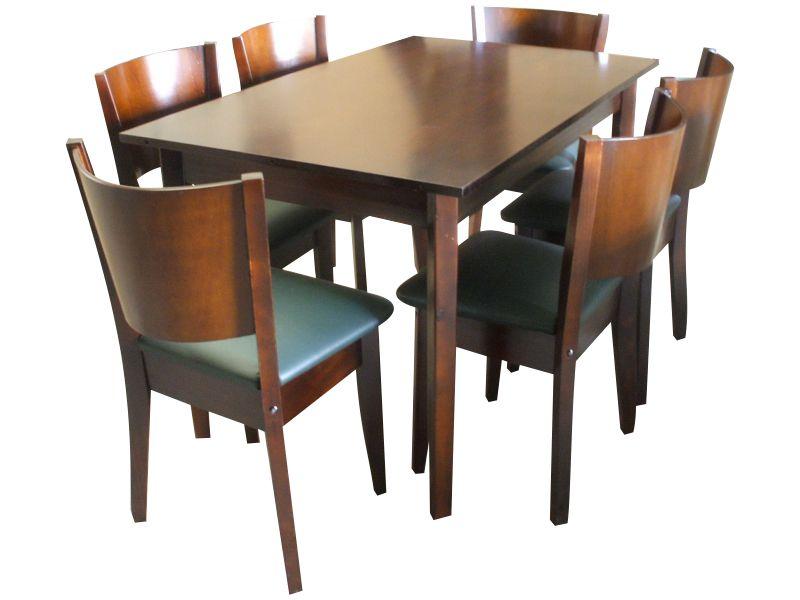 Juego comedor espa ol mesa 6 sillas espa olas for Juego comedor pequea o