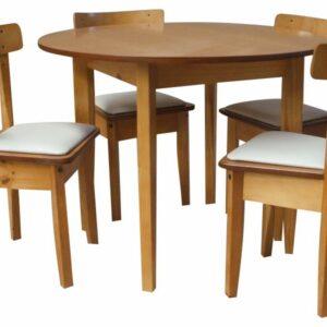 Mesa redonda 4 patas x 1mt.